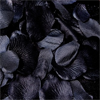 Black Silk Rose Flower Girl Petals