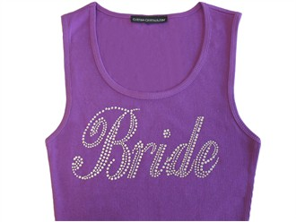 Uber Bling Bride Tank Top or Bride Shirt