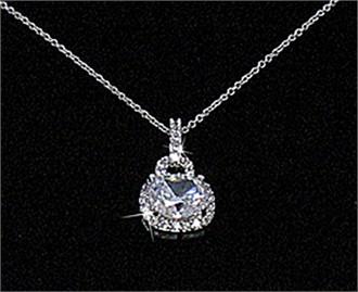 Cubic Zirconia Jewelry Collection Sparkling Pendant