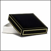 Black Wedding Favor Boxes with Gold Trim