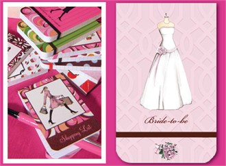 Wedding Dress Mini Notepad for the Bride
