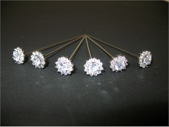 Cubic Zirconium Royalty Bouquet Jewels - Set of 6