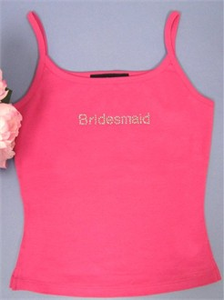 Bridal Party Crystal Spaghetti Tank in Colors
