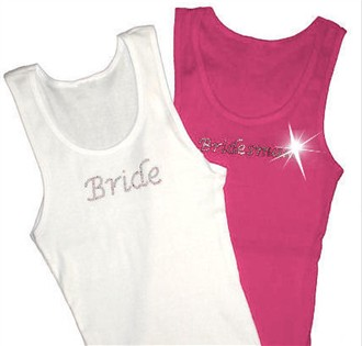 Lucida Rhinestone Bridal Party Tank in your choice of Crystal and Tank Colors