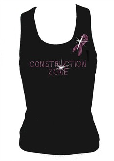 Breast Cancer Construction ZoneTank Top