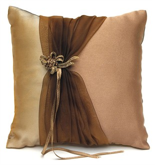 Bronze Elegance Ring Bearer Pillow