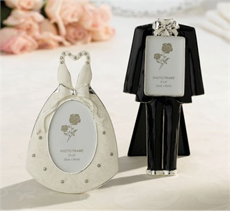 Bridal Gown and Groom Tux Picture Frame Set