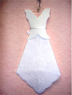 Bride Handkerchief Dress on a Hand-Made Hanger