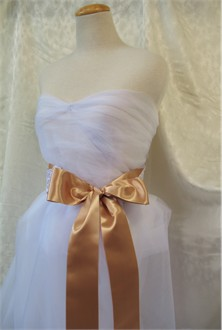Bridal Gown Sash - Bridesmaid Dress Sash - Wedding Gown Sash