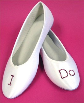 I Do Bridal Ballet Flats - Perfect Bridal Shoes!