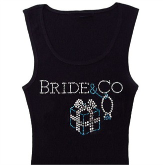 Bride & Co Tiffany Inspired Bridal Tank Top and Bridesmaids Tank Tops