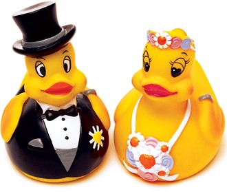 Wedding Novelties - Bride and Groom Rubber Ducks