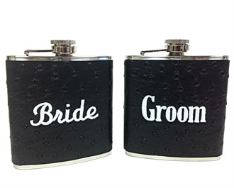Bride Flask - Groom Flask - Buy as a Set and Save!