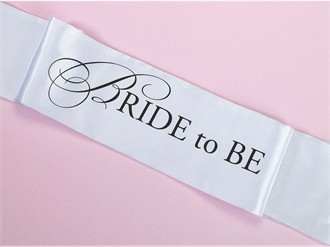 Bride to Be Sash - Fun for Bachelorette Party, Showers, Etc.