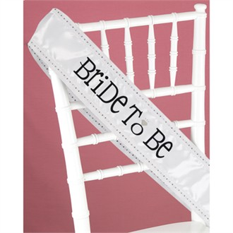 Bling Bride to Be Sash