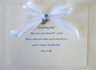 Bride's Something Blue Crystal Flower