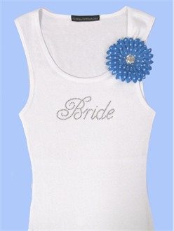 Brides Something Blue Tank with Flower