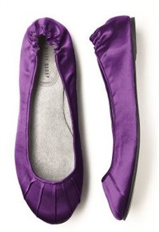 African Violet Ballet Flats - Bridesmaid Shoes