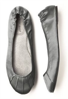 Charcoal Gray Ballet Flats - Bridesmaid Shoes