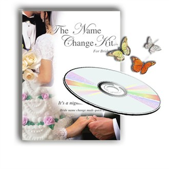 Bride's Name Change Kit on CD