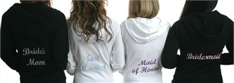 Bridal Party Embroidered Hoodie or Jacket