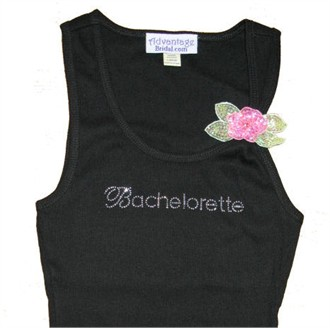 Bridal Party Rhinestone Tank with Sequin Flower