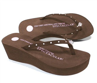 Brown Spectacular Diamond Platform Flip Flop by Girl Two Doors Down