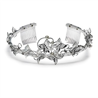 Bridal Tiara with Butterflies
