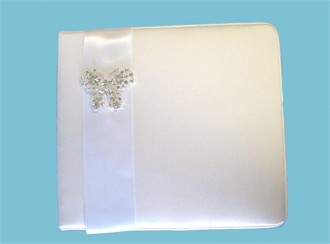 Butterfly Guest Book in White or Ivory