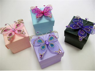 Custom Butterfly Favor Boxes - Butterfly Wedding Theme