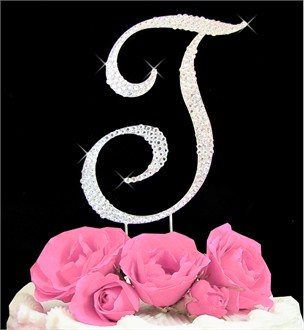 Letter Cake Topper Cake Initial Toppers T