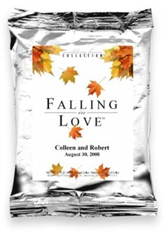 Cascading Leaves Falling in Love Coffee Wedding Favor