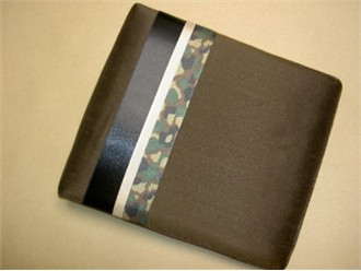 Camouflage Guest Book with Chocolate Silk
