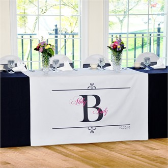 Regal Wedding Reception Table Runner