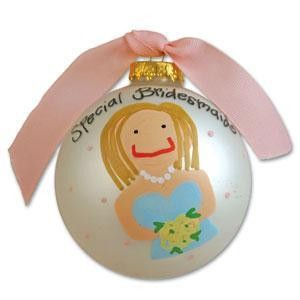 Personalized Bridesmaid Ornament - Small