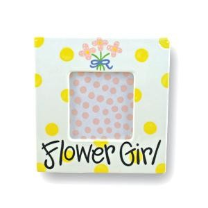 Ceramic Flower Girl Frame