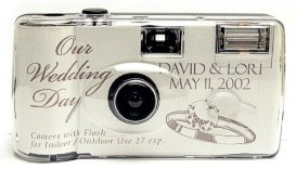 Personalized Wedding Cameras - Silver Ring Design