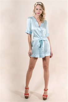 Circa39 Pool Blue Robe by Zinke Design - Something Blue Lingerie