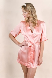 Circa39 Silk Robe in Flamingo by Zinke Design