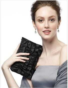 clutch-bag-black-ruffle-clutch-bag Bridesmaid and Accessories Sale | Black Friday Wedding Deals