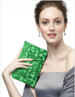 Kelly Ruffle Clutch Purse by Dessy