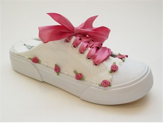 Colonial Rose Savvy Sneaks Custom Decorated Wedding Sneakers