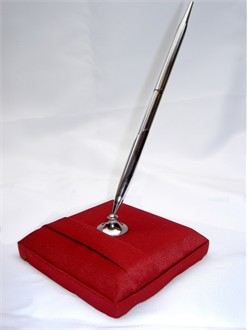 Crimson Red Guest Pen and Stand Set