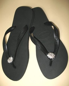 Havaianas Wedding Flip Flops - Bridal Flip Flops with Dazzling Crystal Flower