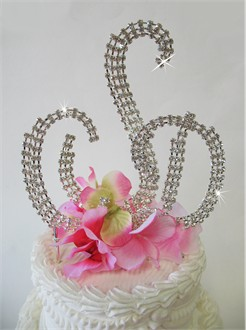 Monogram Cake Topper Set in Crystals