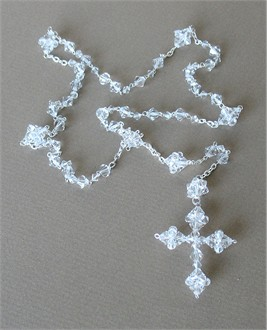Clear Crystal Wedding Rosary
