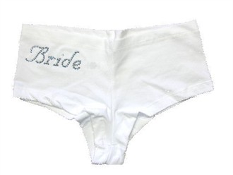 Rhinestone Bride Boy Shorts