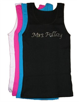 Custom Rhinestone Tank Top or T-Shirt