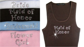 Curlz Bling Rhinestone Tank or Tee