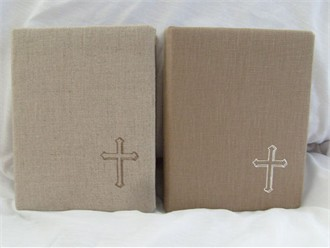 Custom Spiritual Book in Two Colors of Linen